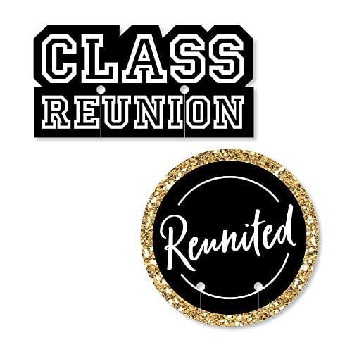 Shaped School Class Reunion Party Wine Glass Markers