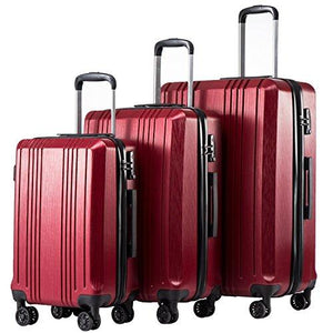 Coolife Luggage Expandable Suitcase 3 Piece Set with TSA Lock Spinner