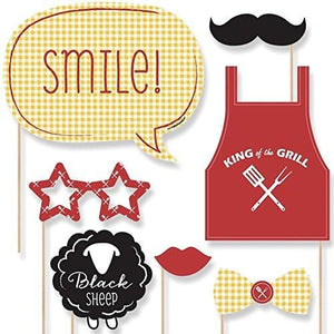 Big Dot of Happiness Family Reunion Photo Booth Props Kit