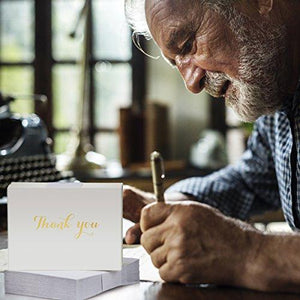 100 Classy White Thank You Cards