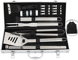 ROMANTICIST 21Pc Heavy Duty Stainless Steel BBQ Grill Tool Accessories Set