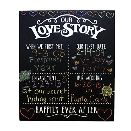 Our Love Story Chalkboard
