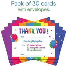30 Kids Thank You Cards