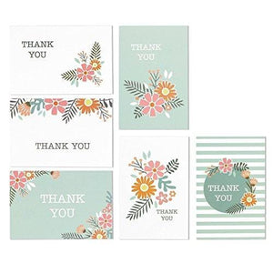 144 Pack Thank You Cards - Thank You Greeting Cards Bulk Box Set