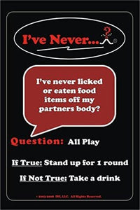 I've Never Bar Cards: Party Game