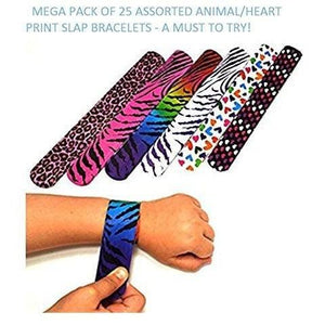 Slap Bracelets Hearts and Animal Print