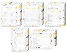 Set of 5 Baby Shower Game Card Packs