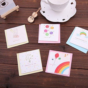24 Pack Assorted All Occasion Mini Creative Lovely Greeting Cards with Envelopes