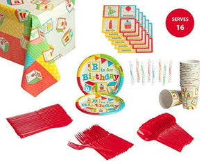 Birthday Party Supplies Pack for 16 Guests
