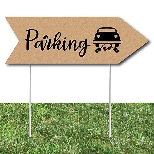 Rustic Wedding Parking Signs