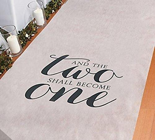 And The Two Shall Become One Wedding Aisle Runner