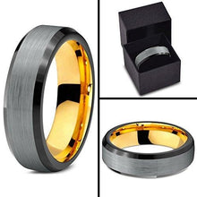 Midnight Rose Collection Tungsten Wedding Band Ring