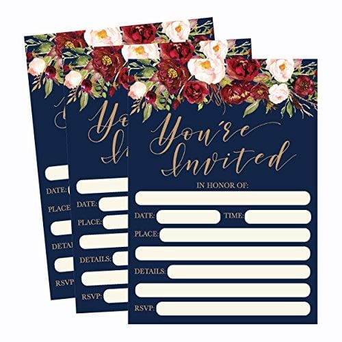 50 Floral Invitations