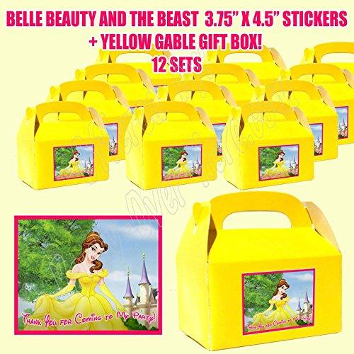 Beauty and Beast Belle Princess Disney Party Favor Boxes