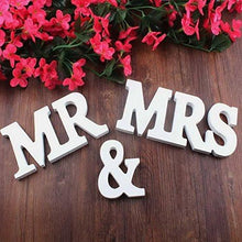 Mr & Mrs White Wooden Letters