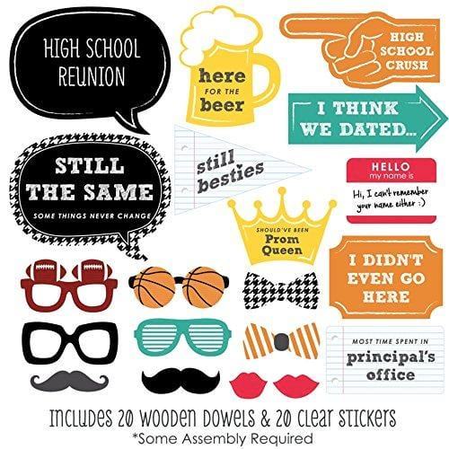 Class Reunion Photo Booth Props Kit