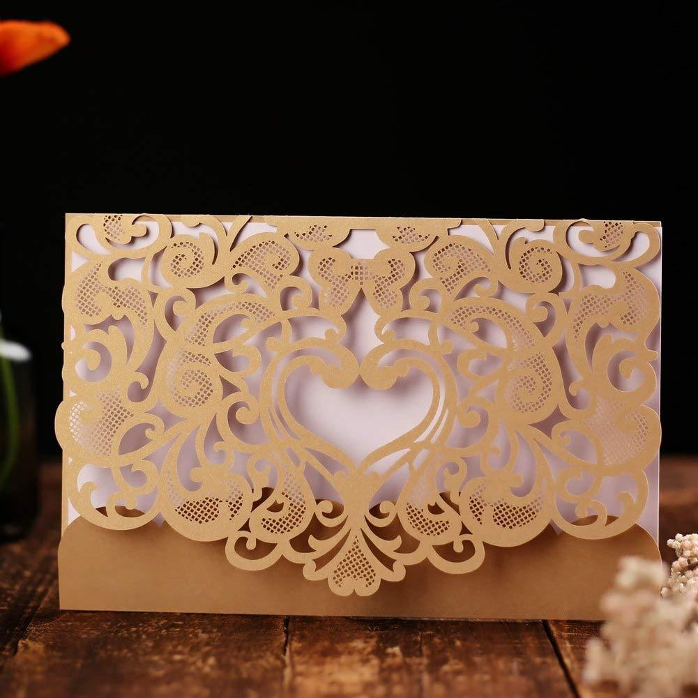 Wedding Invitation Card 50 pack
