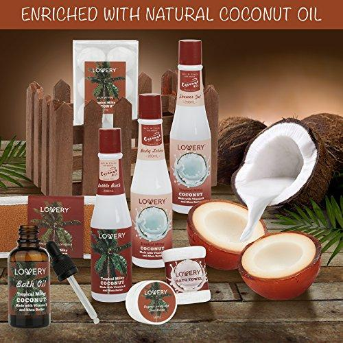 Organic Spa Gift Basket Heavenly Coconut Scent