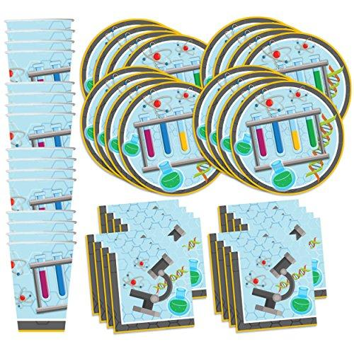 Super Science Birthday Party Supplies Set Plates Napkins Cups Tableware Kit