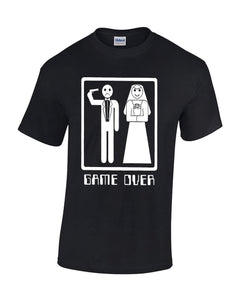 Crazy Bros Tees Game Over Wedding Marriage