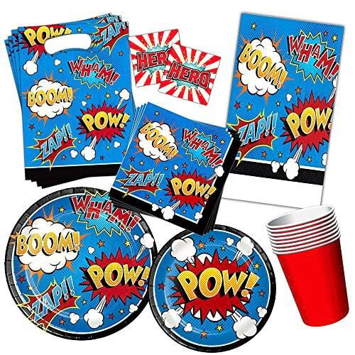 Superhero Party Supplies Set Kids Toddlers