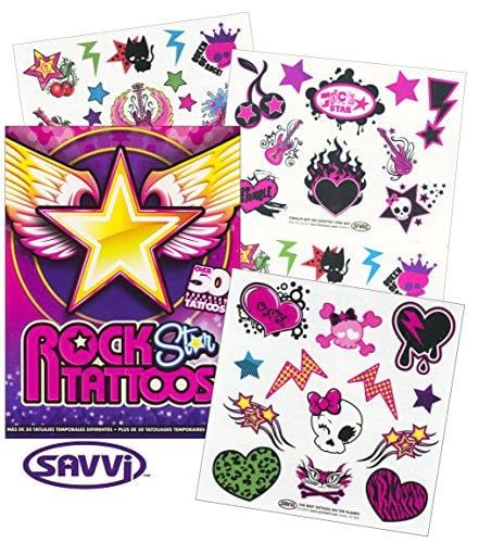Savvi Rocker Rock Star Tattoos for Girls