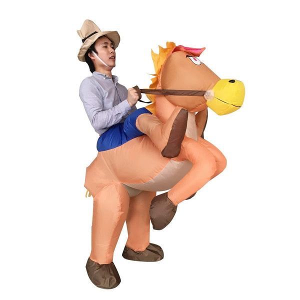 Fancy Adult Inflatable Dinosaur Unicorn Cowboy Costume Halloween Cosplay Fantasy Costume