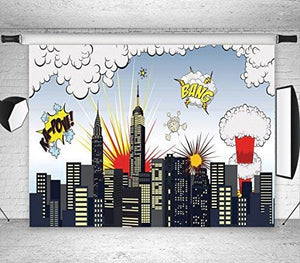 Super City Vinyl Photography Backdrop