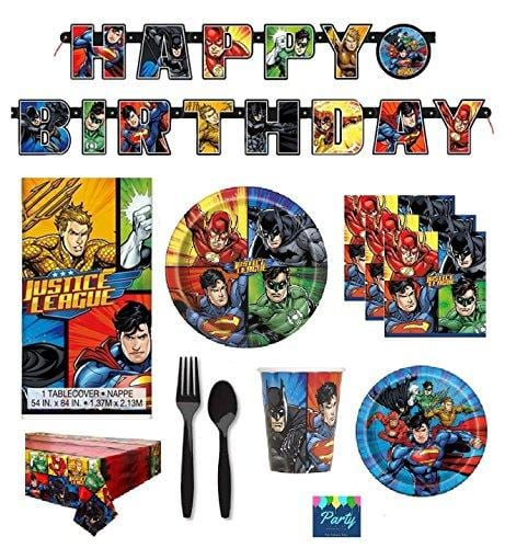 DC Comics Justice League Superheros Birthday Party Supplies