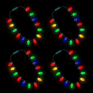 Light Up Christmas Bulb Necklace