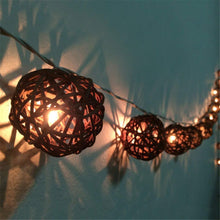 Handmade Rattan Ball String Lights