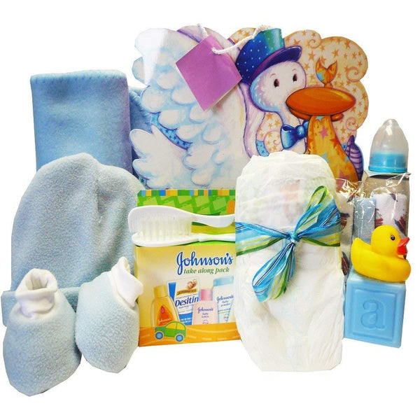 Look What The Stork Brought! Baby Gift Bag, Blue Boys or Pink Girls