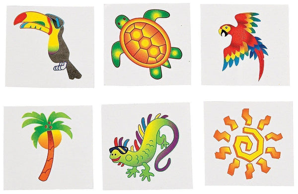 Tropical Tattoos (6 Dozen)