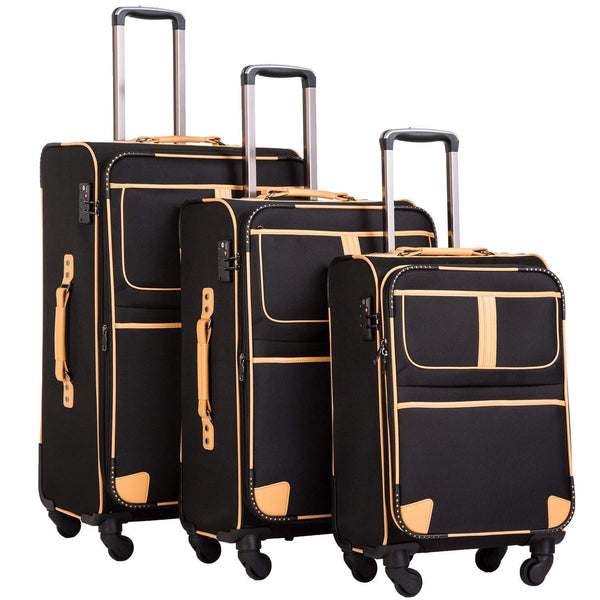 Coolife Luggage 3 Piece Set