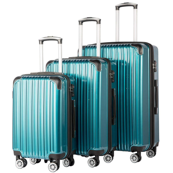 Coolife Luggage Expandable 3 Piece Set