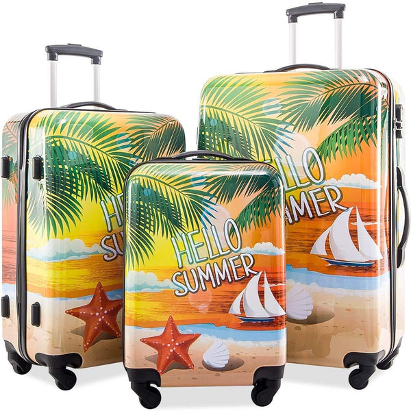 Merax Graphic Print Luggage Set 3