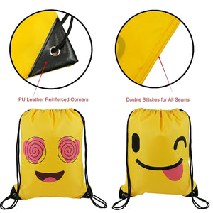 Emoji Drawstring Backpack Bags