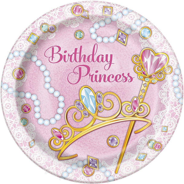 Princess Themed Birthday Party Plates and Napkins Serves
