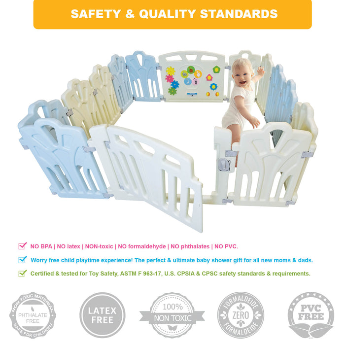 Baby Safety Playpen Kids Activity Center | 14 Panel - INEX Kids