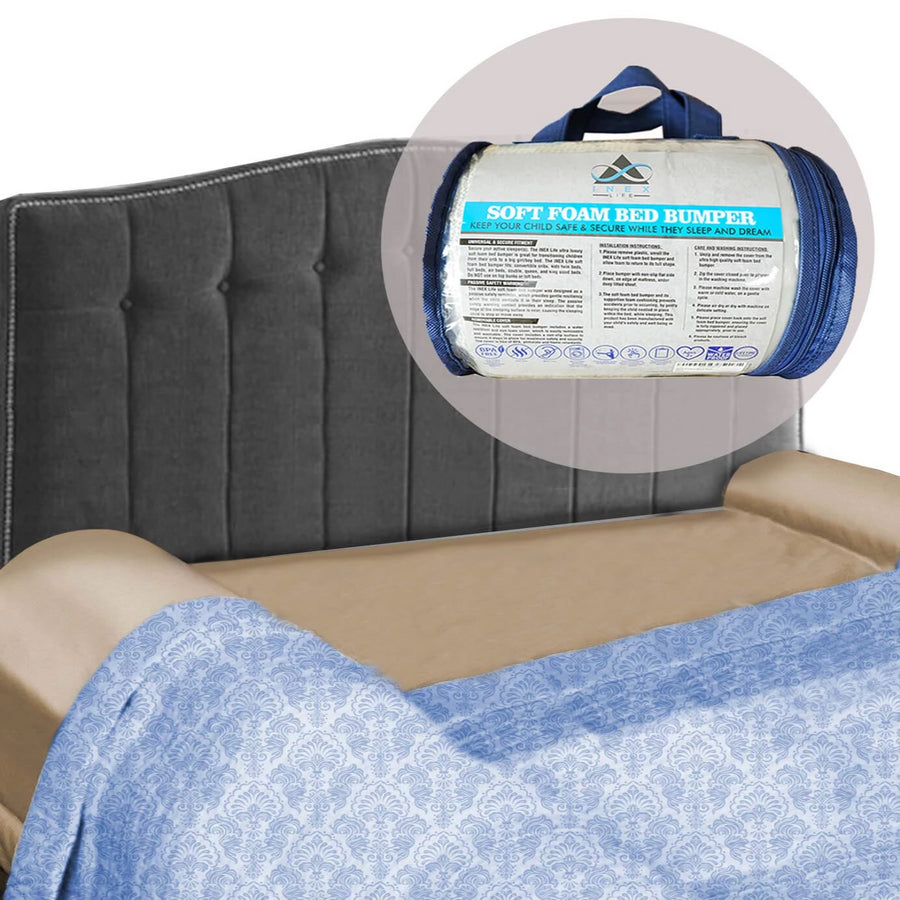 Foam Bed Bumper | Toddler Bed Rail Safety Guard - INEX Kids