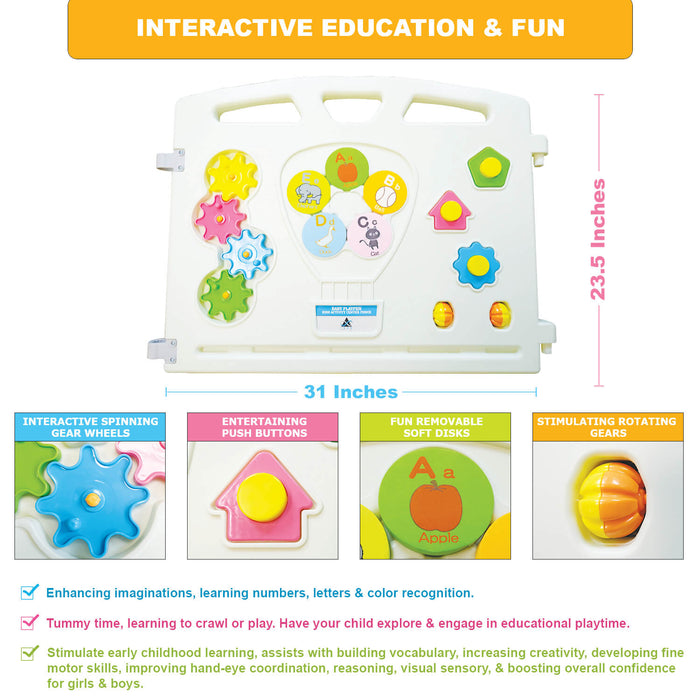 Additional Panel Activity Piece | Baby Playpen Kids Activity Center - INEX Kids