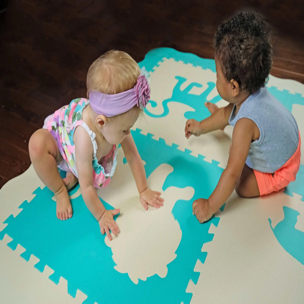 Sea Glass Extra Thick Soft Foam Baby Play Mat - INEX Kids
