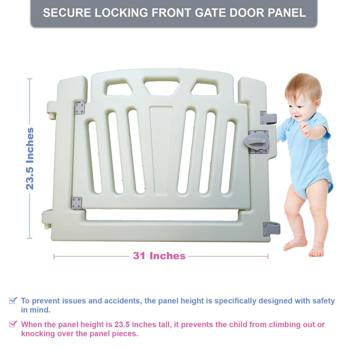 Additional Panel Gate Door Piece | Baby Playpen Kids Activity Center - INEX Kids