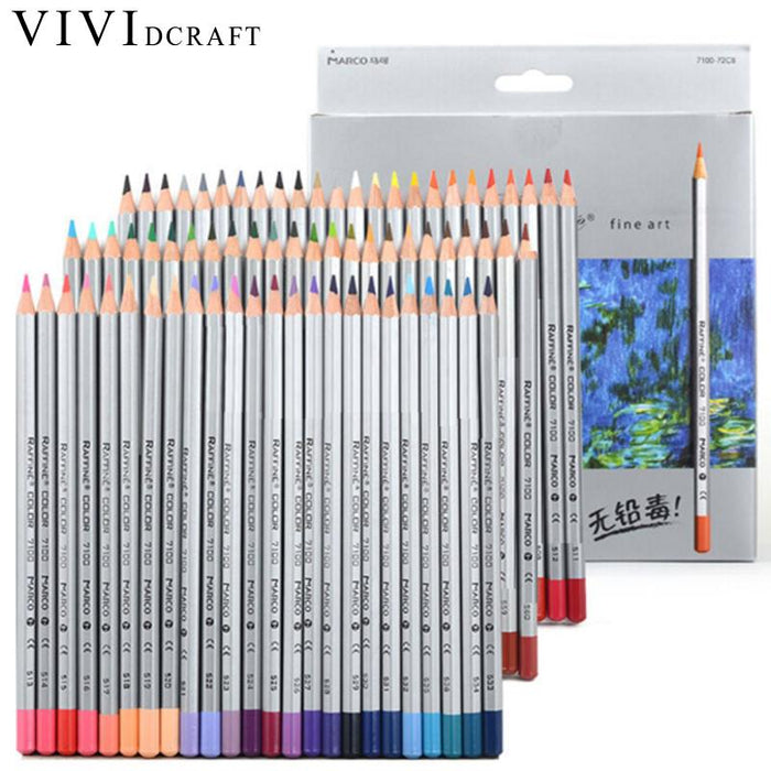 24 or 72 Vibrant Colored Pencils Set - INEX Kids