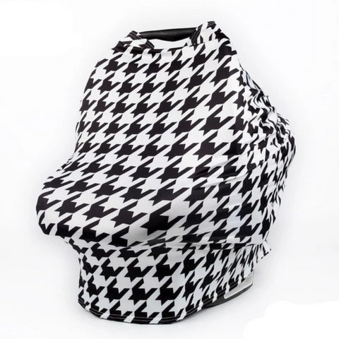 Stretchy 4-in-1 Carseat Canopy, Nursing Cover, Shopping Cart Cover, Infinity Scarf - INEX Kids