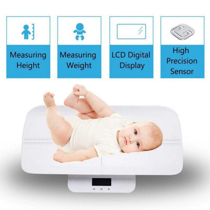Baby Multi-Function Body Weight Scale Health Digital Weighting Scale Measure Length 60cm for Newborn Baby Infant Scales - INEX Kids