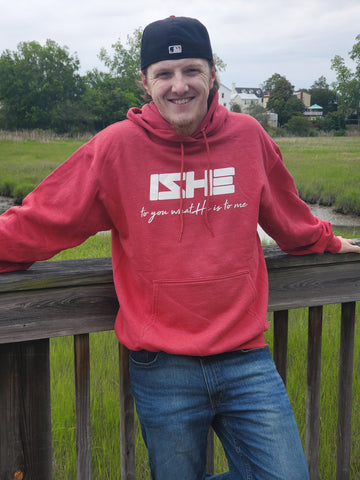 IZHE Heather Red Hoodie