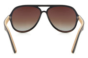 "Ebony/Walnut Laminated Wood Sunglasses with gradient Brown lenses ""Vancouver II"""
