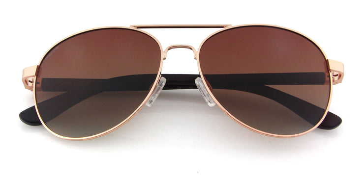 "Wood and Metal Sunglasses with Gradient Brown lenses ""San Marino"""