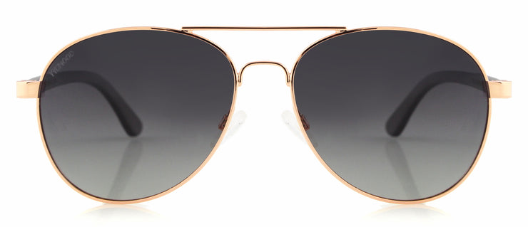 "Wood and Metal Sunglasses with Gradient Grey lenses ""San Marino"""